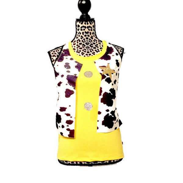 Cowboy Shirt With Cow Vest - Rock City Skirts