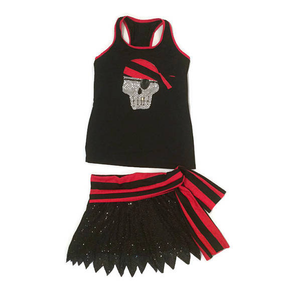 "Pirate ""Swashbuckler"" Sparkle Skirt- final markdown  - limited quantities - Rock City Skirts"