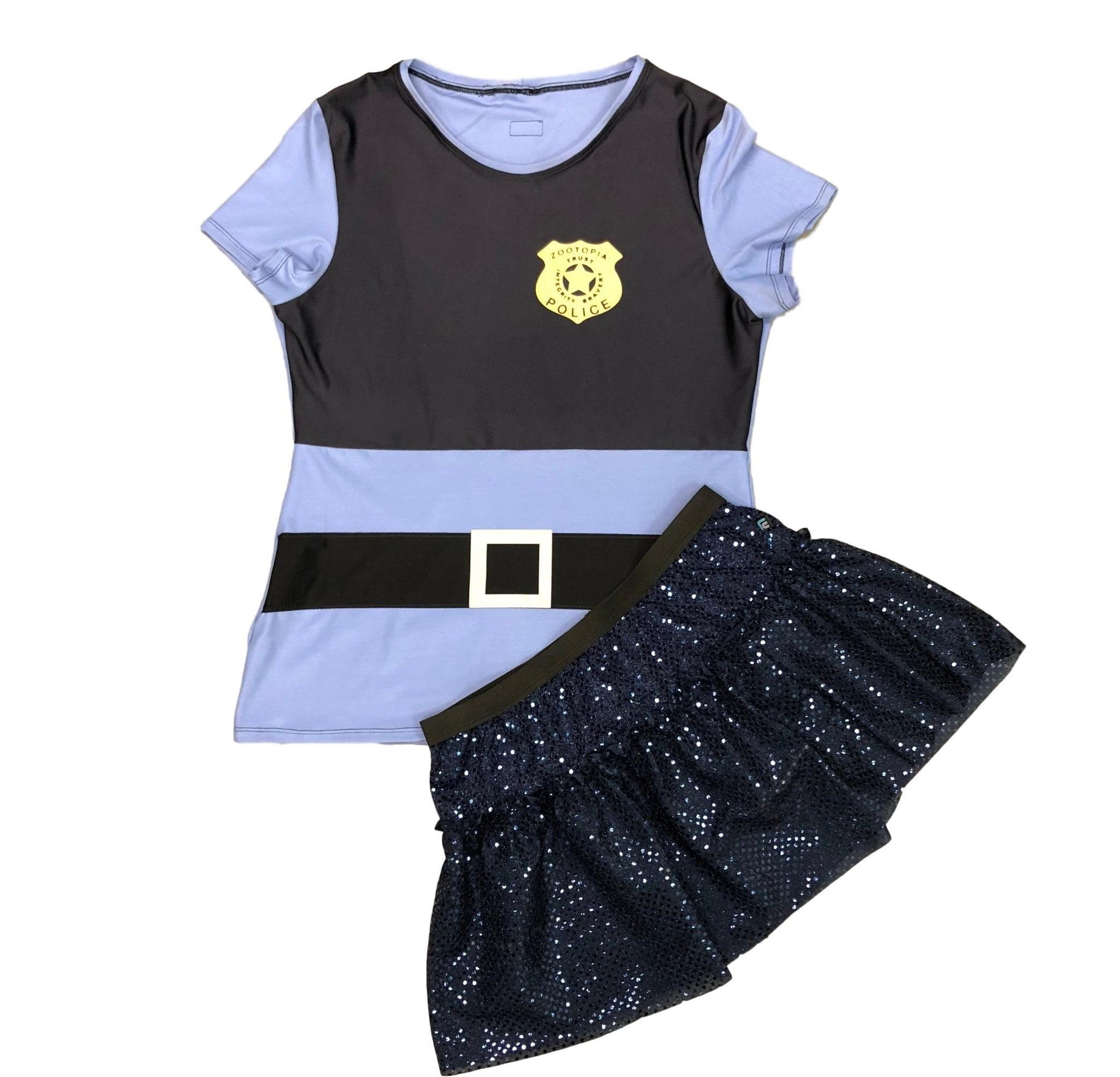 Judy Hopper sparkle running costume - Rock City Skirts