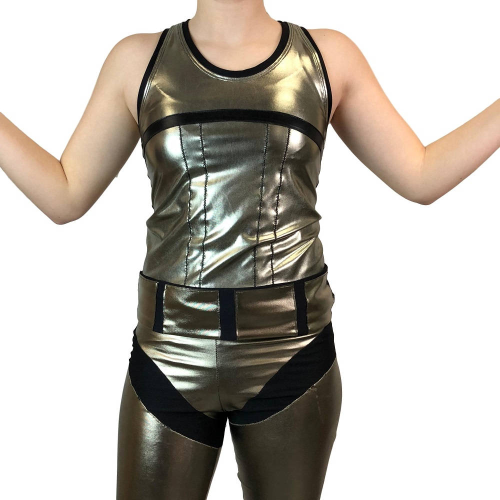Captain Phasma Inspired Racerback Shirt - Rock City Skirts
