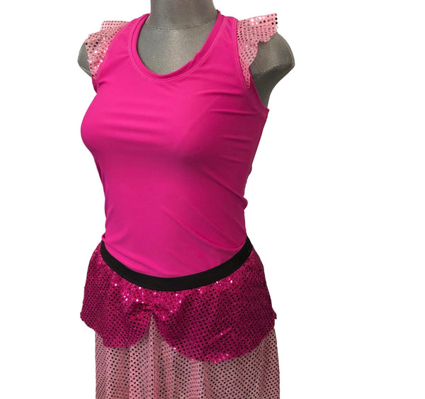 """Anastasia"" Evil Stepsister Inspired Costume- pink option only final markdown limited quantities - Rock City Skirts"