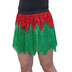 Christmas Elf Sparkle Athletic Skirt - Rock City Skirts
