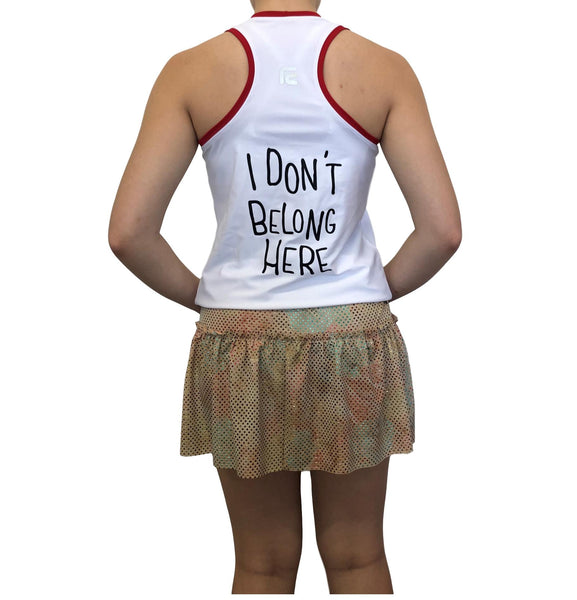 Sporky Inspired Running Racerback- final markdown - Rock City Skirts