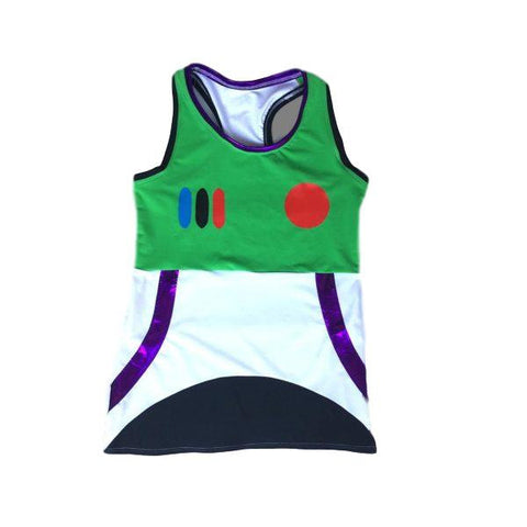 Space Ranger Inspired Shirt (with Optional Arm Sleeves) - Rock City Skirts