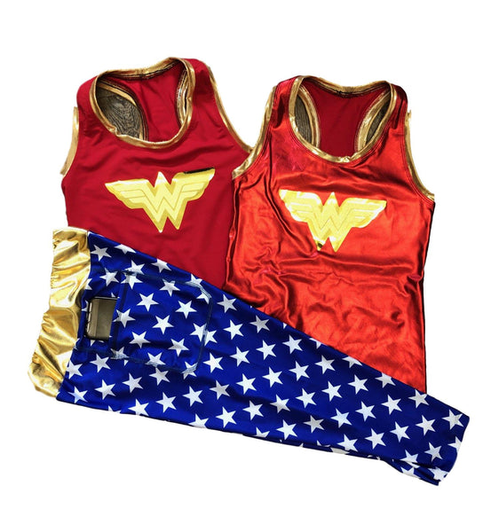 Wonder Woman Costume With Capris - Rock City Skirts