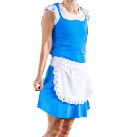 """Provincial Belle"" Inspired Running Costume with built in shorts and flutter style skirt - Rock City Skirts"