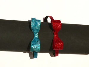 """Snow White"" Red Glitter Bow Non-Slip Headband - Rock City Skirts"