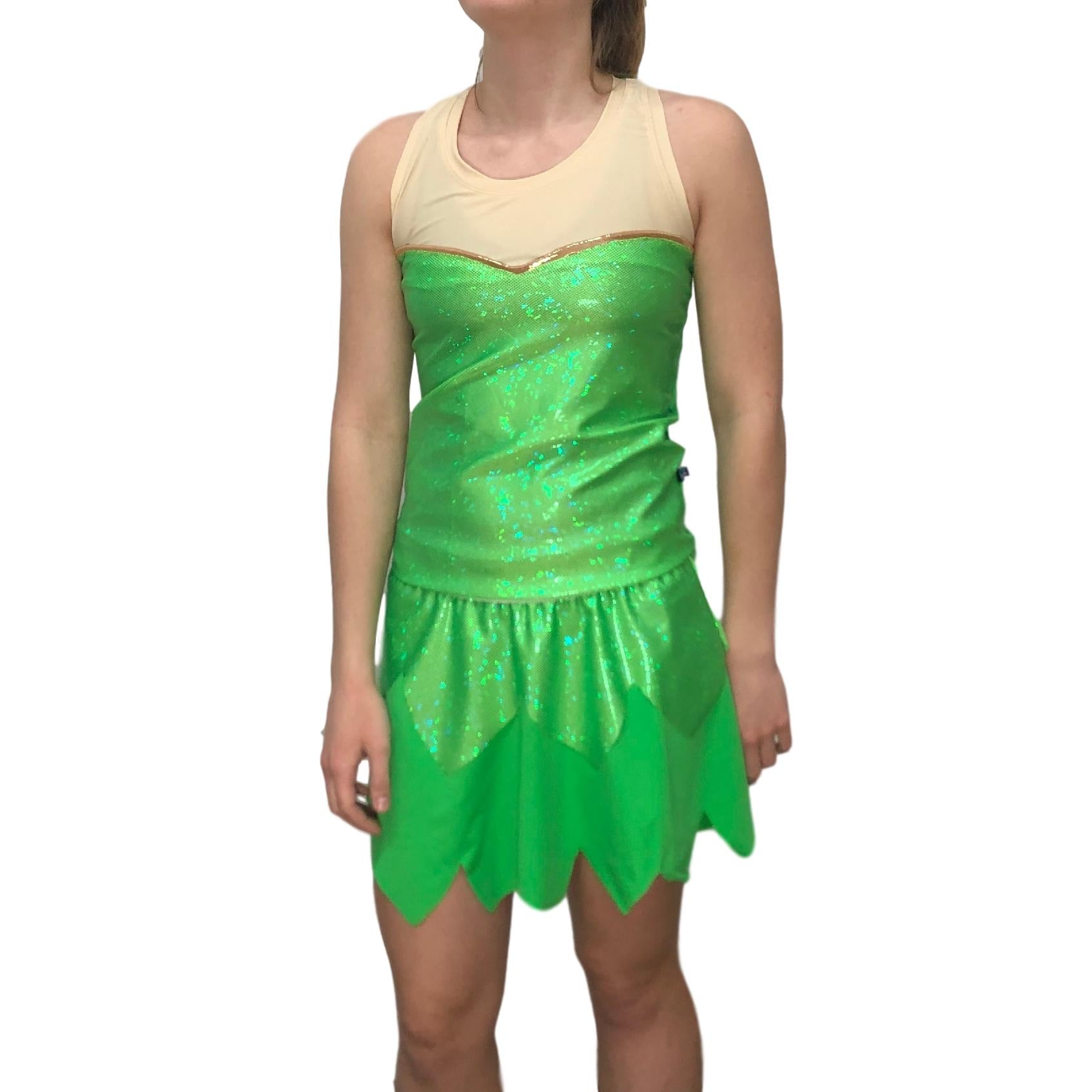 """Tinkerbell"" Bling Woman's Running Shirt - Rock City Skirts"