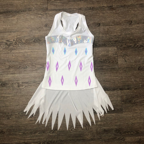 Limited Edition Snow Princess 2 Inspired Running Costume (Capris optional) - Rock City Skirts