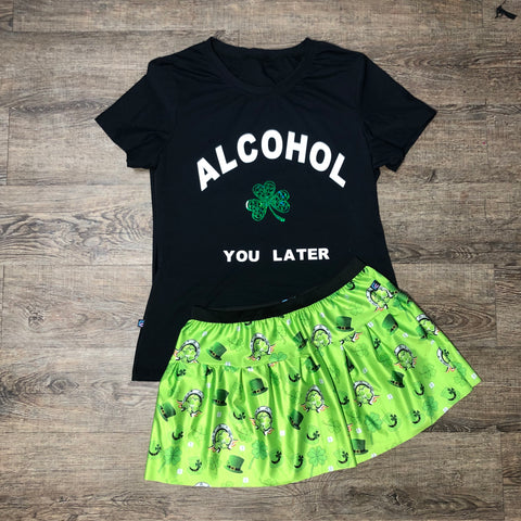 St. Patty Party Shirt With St. Patty skirt - Rock City Skirts