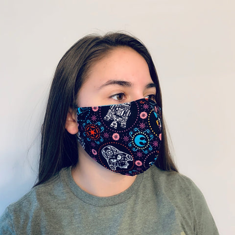 Limited Edition Star Wars Reusable Fitted Mask w/Filter Pocket - Rock City Skirts