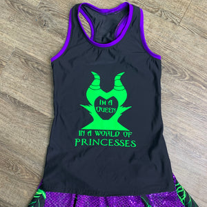 Maleficent Evil Witch Racerback Tank
