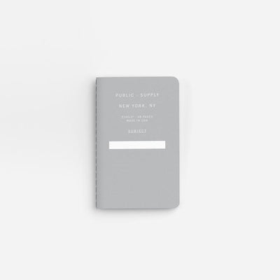 Public - Supply New York Grey Pocket Notebook