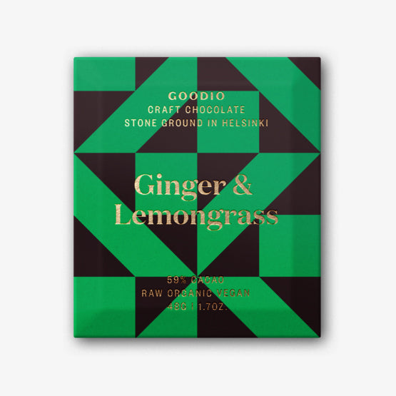 Organic Craft Chocolate - Ginger & Lemongrass
