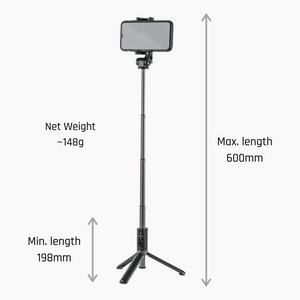 Tripod & Selfie Stick with Bluetooth