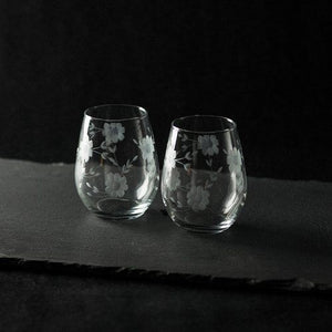 Floral Wine Glasses on Giftsuite.com