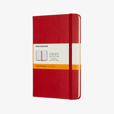 Classic Hardcover Notebook - Red