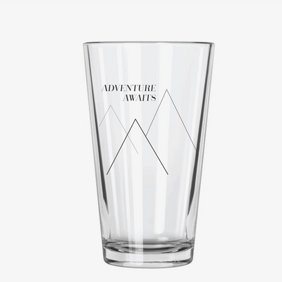 Adventure Awaits Pint Glass
