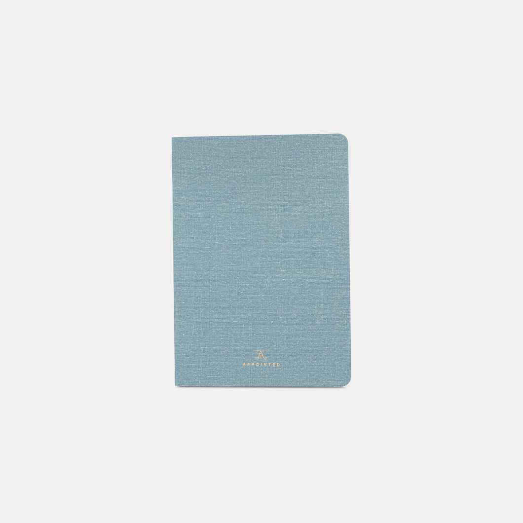 Chambray Linen Jotter Notebook
