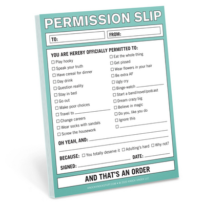 Permission Slip Nifty Note