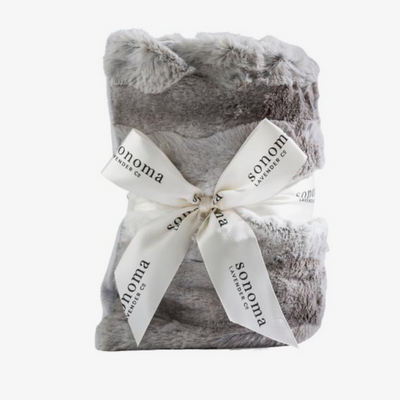 Sonoma Lavender Heated Spa Wrap - Platinum Angora