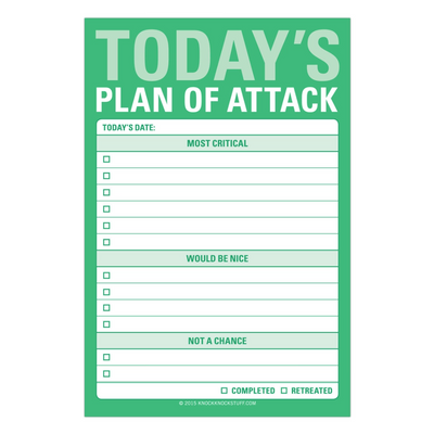 Today's Plan of Attack Sticky Notes on GiftSuite.com