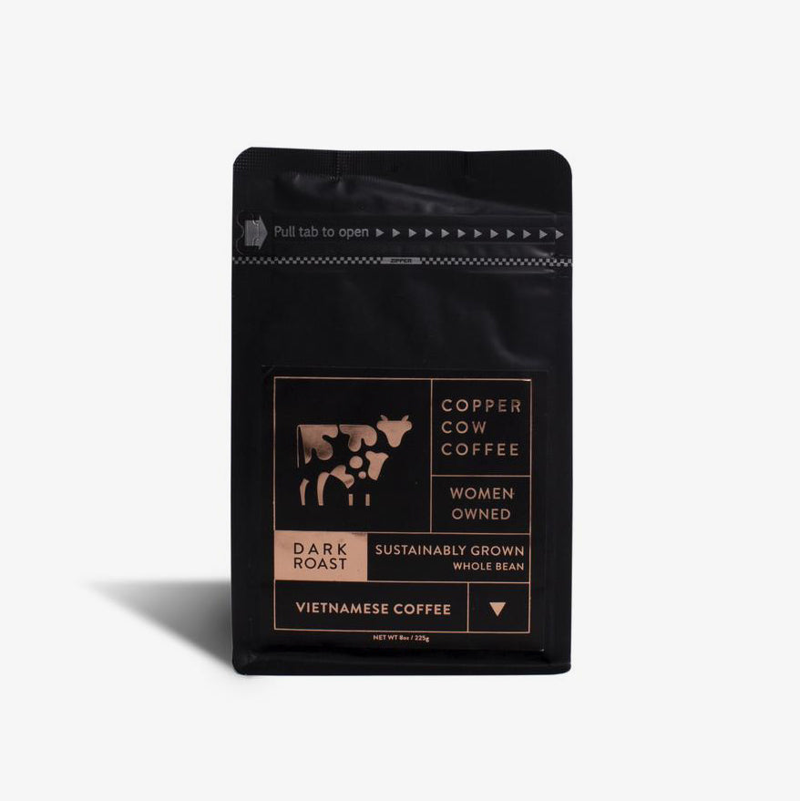 Vietnamese Whole Bean Dark Roast Coffee 8oz