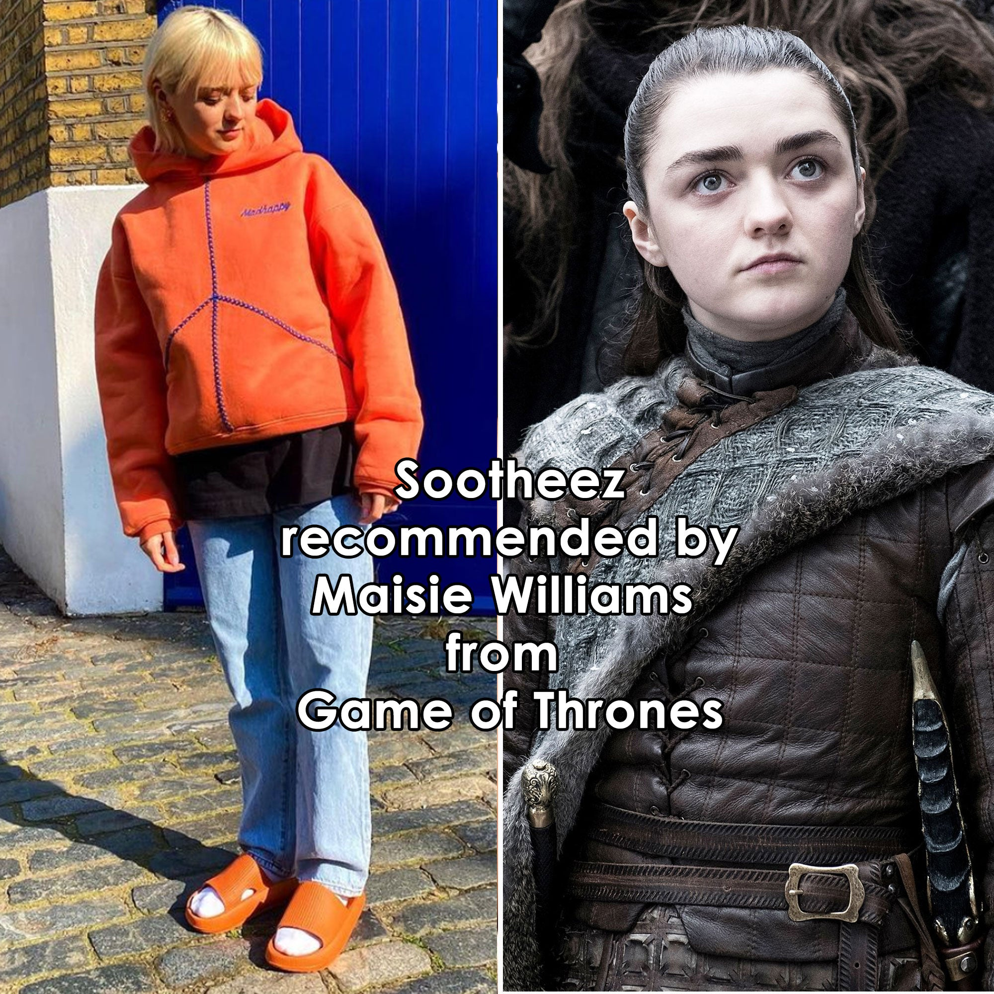 Game of Thrones Maisie Williams Sootheez slippers