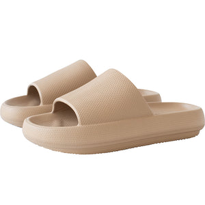 3D Extremely Soft/Thick Sootheez Slippers (New EVA Technology 2020) - 50% OFF US Women 5.5-6 / Khaki