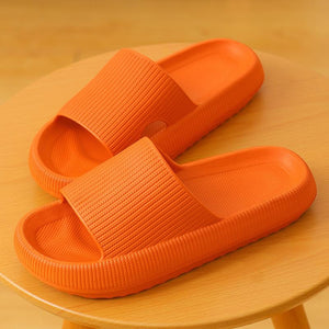 3D Sootheez Extremely Soft/Thick Slippers (New EVA Technology 2020 with stripes) - 50% OFF W-US: 5.5-7 / ORANGE