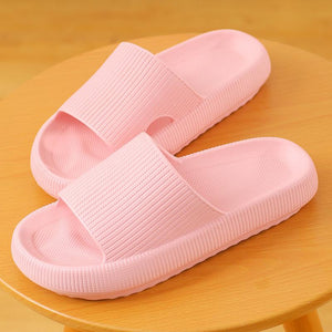 3D Sootheez Extremely Soft/Thick Slippers (New EVA Technology 2020 with stripes) - 50% OFF W-US: 7.5-8.5 / PINK