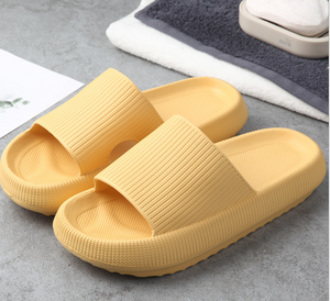 3D Sootheez Extremely Soft/Thick Slippers (New EVA Technology 2020 with stripes) - 50% OFF W-US: 5.5-7 / YELLOW
