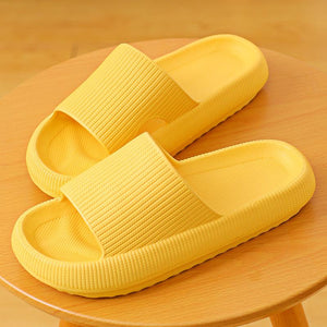 3D Sootheez Extremely Soft/Thick Slippers (New EVA Technology 2020 with stripes) - 50% OFF W-US: 7.5-8.5 / YELLOW
