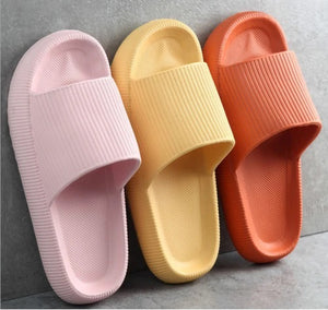 3D Sootheez Extremely Comfy/Thick Slippers (New EVA Technology 2021 with stripes) - 50% OFF W-US: 5.5-7 / BLACK