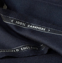 Load image into Gallery viewer, Suiting Fabric 100% Cashmere - Navy