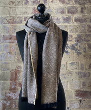 Load image into Gallery viewer, 100% pure cashmere scarf shawl wrap pashmina sustainable silk UK Scotland mens womens