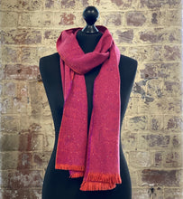 Load image into Gallery viewer, 100% pure cashmere scarf shawl wrap pashmina sustainable UK Scotland mens womens silk merino wool