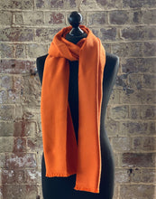 Load image into Gallery viewer, 100% pure cashmere scarf shawl wrap pashmina sustainable UK Scotland mens womens orange