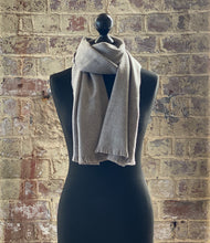Load image into Gallery viewer, 100% pure cashmere scarf shawl wrap pashmina sustainable UK Scotland mens womens