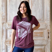 Saint Teresa of Calcutta Unisex T-Shirt in Maroon