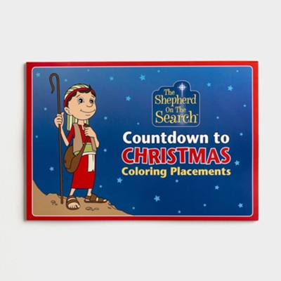 Countdown to Christmas Coloring Placemats
