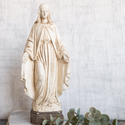 Antique French Our Lady of Grace Statue