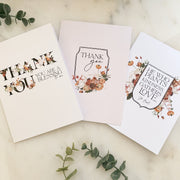 Thank You Cards Set of 9