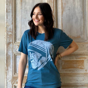 Saint Teresa of Calcutta Unisex T-Shirt in Blue
