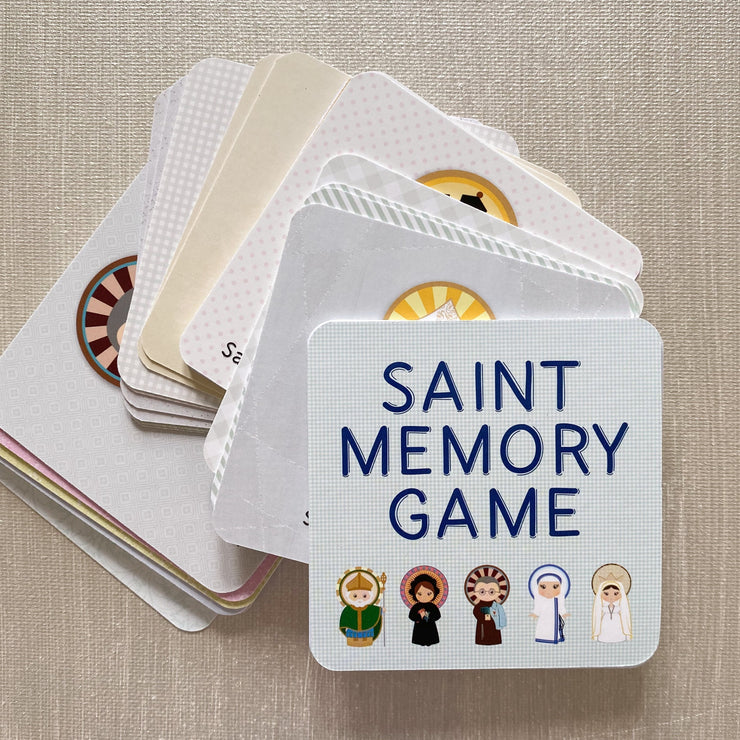 Saint Memory Game Card Set