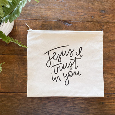 Jesus, I Trust In You Canvas Pouch