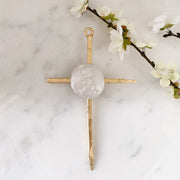 Boy or Girl Gold Leaf Cross by JJ Designs