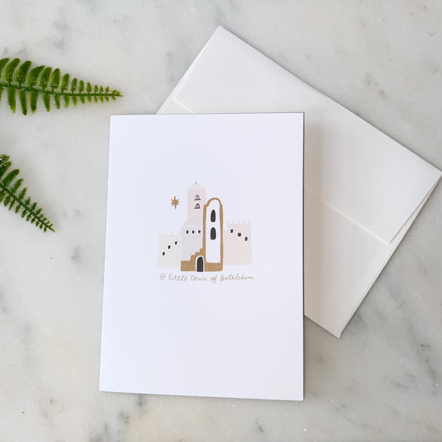 O Little Town of Bethlehem Greeting Card