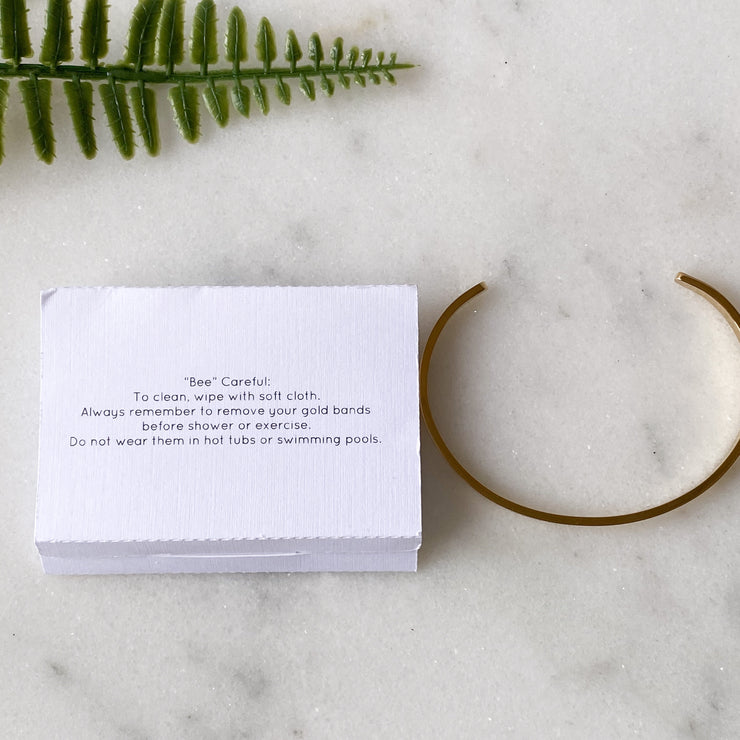 Bee Still Designs Inspirational Quote Cuff Bracelets