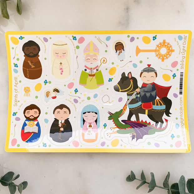 Shining Light Saints of the Month Sticker Sheet